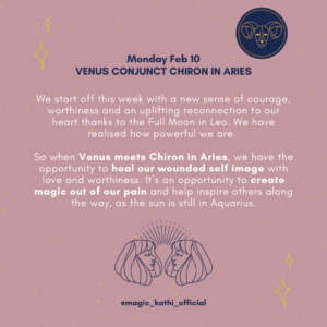 Mars prepares to enter Capricorn, Venus conjunct Chiron in Aries and Venus square the North Node in Cancer and the South Node in Capricorn challenge us to heal our self image, so we can finally step into our purpose in 2020.