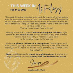 Horoscope of the week - Mercury Retrograde in Pisces, Mars in Capricorn