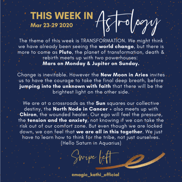 This week in Astrology: Saturn in Aquarius, New Moon in Aries and a powerful Mars Pluto Conjunction in Capricorn