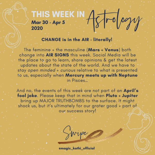 This Week in Astrology: Mars in Aquarius, Pluto conjunct Jupiter and Venus changing signs!