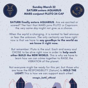Astrology of coronavirus, Saturn enters Aquarius, sun enters Aries and mars conjunct Jupiter in capricorn
