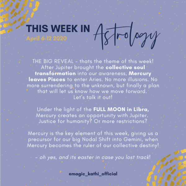 This week in Astrology: Full Moon in Libra, Mercury enters Aries + major shifts for Easter!
