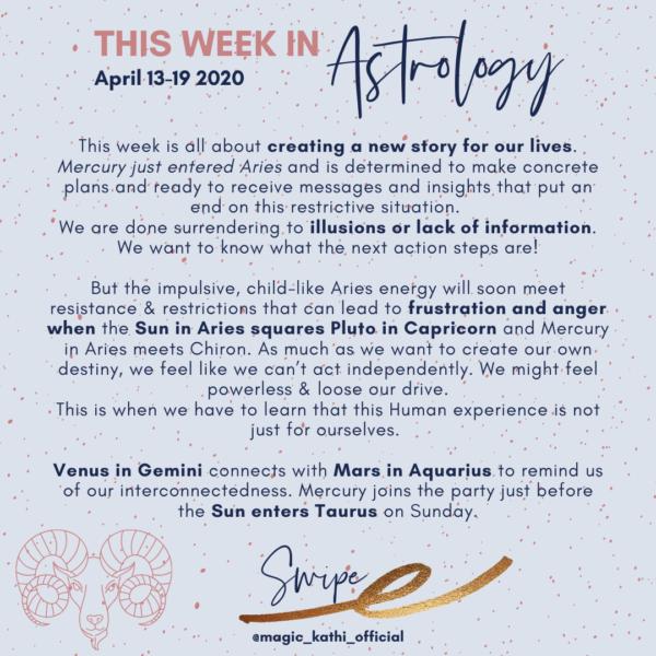 This Week in Astrology: Creating a New Story with Taurus Season 2020, Mercury in Aries + Venus in Gemini