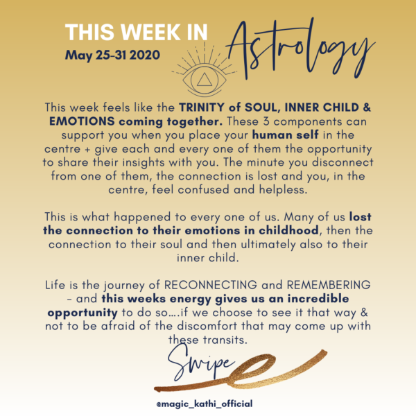 This Week in Astrology: Trinity Of The Soul, Inner Child Healing + Mercury enters Cancer